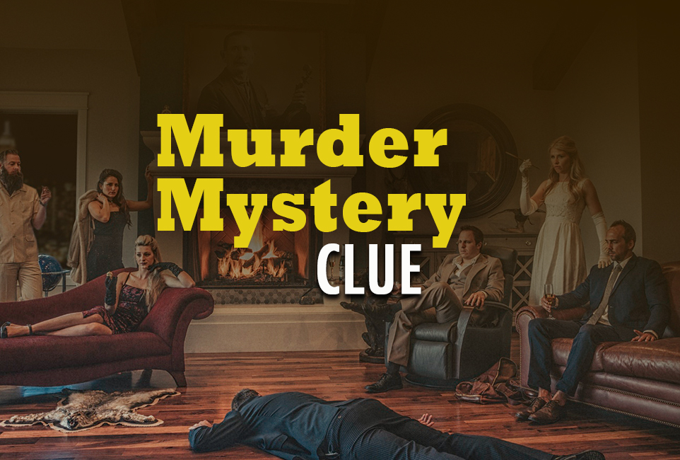Murder Mystery: Clue | Fun Team Building Activity Based On The Classic Game logo