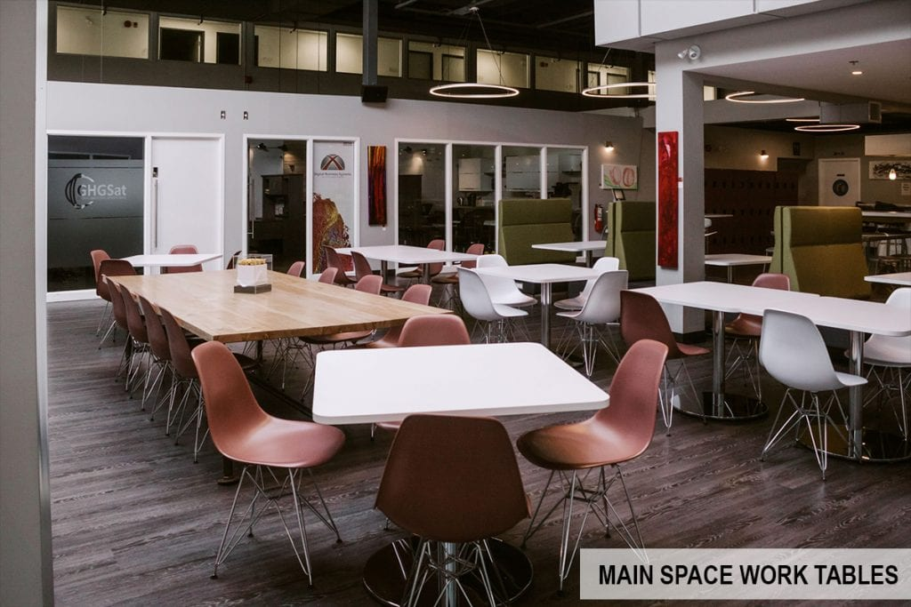 Head Office Ottawa Main Space Work Tables | Highly Unique Event & Meeting Spaces in Kanata